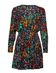 ONLREIGN L/S SHORT DRESS WVN - BLACK
