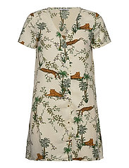 ONLELVINA S/S SHORT DRESS WVN - TRANSPARENT YELLOW