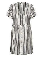 ONLALFINA S/S DRESS WVN - CLOUD DANCER