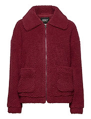 ONLEMMA SHERPA JACKET CC OTW - POMEGRANATE
