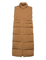 ONLSTACY QUILTED WAISTCOAT CS OTW - TOASTED COCONUT