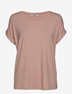 ONLMOSTER S/S O-NECK TOP NOOS JRS - t-shirts - pale mauve