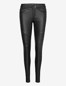 ONLNEW ROYAL REG SK. BIKER COAT PNT NOOS - spodnie skórzane - black