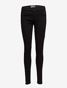 ONLRAIN LIFE REG SKINNY JNS CRY6060 NOOS - skinny jeans - black denim