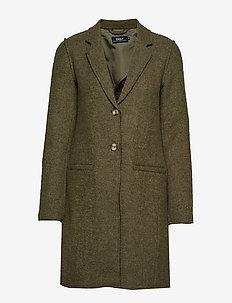 ONLNEW ELLA WOOL COAT CC OTW - wełniane płaszcze - martini olive