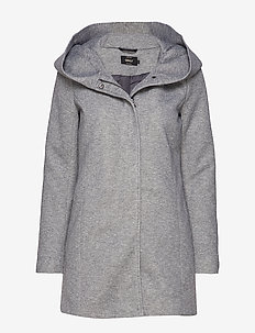 ONLSEDONA LIGHT COAT OTW NOOS - cienkie płaszcze - light grey melange