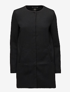 onlSIDNEY LIGHT COAT OTW NOOS - BLACK