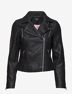 ONLGEMMA FAUX LEATHER BIKER OTW NOOS - lederjacken - black