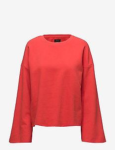 onlATALIJE WIDE LS SWEAT JRS - swetry - flame scarlet