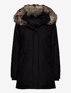 onlKATY PARKA COAT CC OTW - parka coats - black