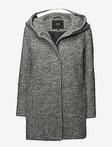 ONLSEDONA BOUCLE WOOL COAT OTW - vinterfrakker - light grey melange
