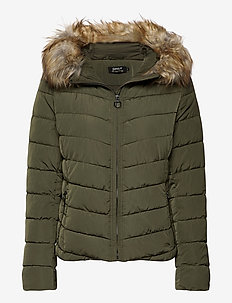 onlNEW ELLAN QUILTED FUR HOOD JACKET OTW - gewatteerde jassen - forest night