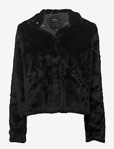 onlVIDA FAUX FUR JACKET OTW - faux fur - black