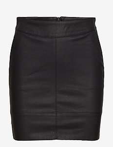ONLBASE FAUX LEATHER SKIRT OTW NOOS - kurze röcke - black