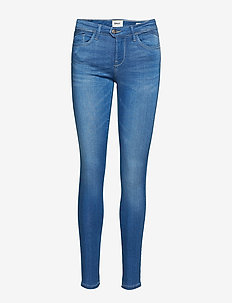 ONLFCARMEN REG SK BB SOO4 NOOS - MEDIUM BLUE DENIM