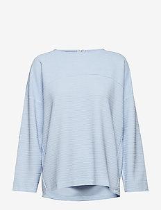 onlLECO MAISE L/S ZIP TOP JRS - långärmade blusar - cashmere blue