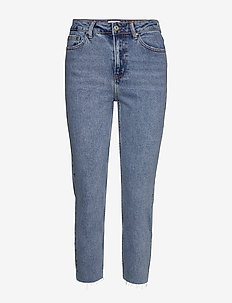 ONLEMILY HW ST RAW CROP ANK MAE06 NOOS - straight jeans - light blue denim