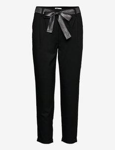 ONLRITA LOOSE LYREX BELT PANT TLR - bukser med lige ben - black