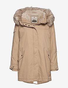 ONLMAY FUR CANVAS PARKA CC OTW - parka coats - nomad