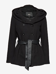 ONLLISA RIANNA SHORT WOOL COAT CC OTW - BLACK