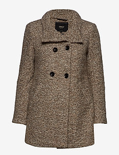 ONLSOPHIA WOOL BOUCLE COAT CC OTW - TAUPE GRAY