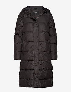 ONLCAMMIE LONG QUILTED COAT OTW - BLACK