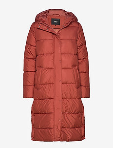 ONLCAMMIE LONG QUILTED COAT OTW - BURNT HENNA