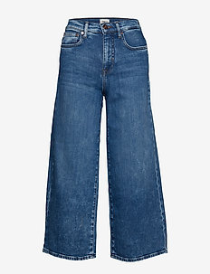 ONLMADISON HW WIDE CROP DNM JEANS REA - MEDIUM BLUE DENIM