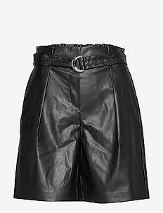 ONLHELENA FAUX LEATHER SHORTS OTW - BLACK