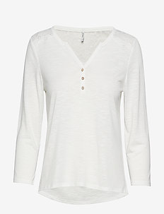 ONLELENA 3/4 PLACKET TOP JRS - CLOUD DANCER