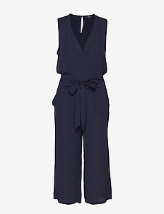ONLNOVA LUX S/L WRAP JUMPSUIT SOLID7 WVN - NIGHT SKY
