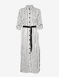 ONLSHANNON L/S SHIRT DRESS WVN - BLACK