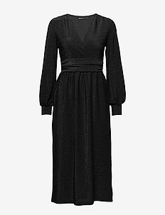 ONLBECCA L/S DRESS KNT - BLACK