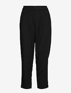 ONLLAILA-ASHLEY HW CUT CARROT PANT PNT - BLACK