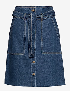 ONLALTHEA LIFE HW MIDI CARGO DNM SKIRT - jeansröcke - medium blue denim