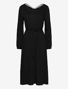ONLFALMA STRING DRESS SOLID WVN - BLACK