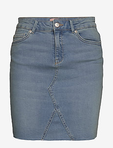 ONLFAN SKIRT RAW EDGE BB CRF5012 - jeansröcke - light blue denim