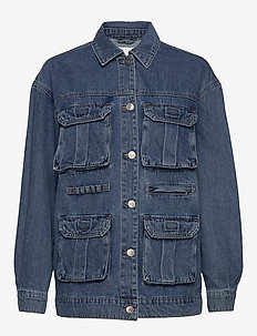 ONLPATRICIA CARGO MD BLU DNM JACKET - denim jackets - medium blue denim