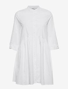 ONLDITTE LIFE 3/4 SHIRT DRESS NOOS WVN - paitamekot - white
