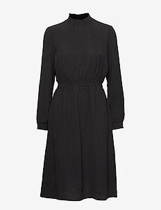 ONLNOVA LUX SOLID SMOCK HIGH DRESS 8 WVN - BLACK