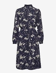 ONLNOVA LUX AOP SMOCK HIGH DRESS 8 WVN - midi-kleider - black