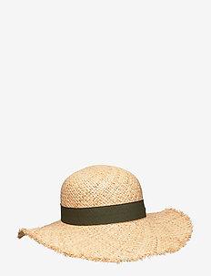ONLIBIZA RAFFIA STRAW HAT - NATURAL