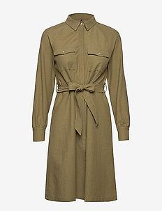 ONLSAFARI SHIRT DRESS JRS - skjortekjoler - martini olive