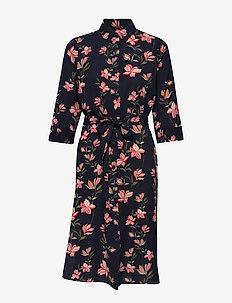 ONLNOVA LUX LONG SHIRT DRESS AOP WVN - NIGHT SKY