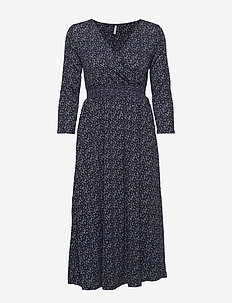 ONLPELLA 3/4 AOP DRESS JRS - NIGHT SKY