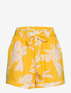 ONLALMA LIFE POLY BELT SHORTS AOP WVN - casual shortsit - aspen gold