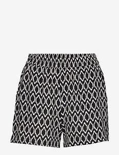 ONLNOVA LUX SHORTS AOP WVN 9 - casual shorts - black