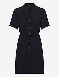 ONLNOVA LUX S/S BUTTON DRESS SOLID WVN - skjortekjoler - night sky