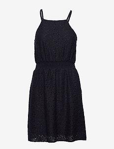 ONLOLA SL SHORT DRESS WVN - krótkie sukienki - night sky
