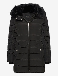 ONLCAMILLA QUILTED COAT CC OTW - gewatteerde jassen - black